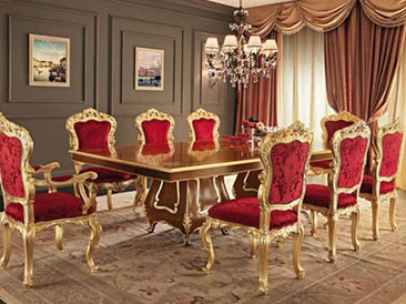 gold dining table and chairs. how to add personality to every room